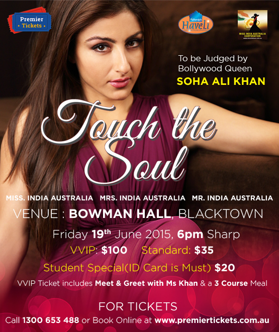 MISS/MRS/MR India Australia Beauty Pageant – TOUCH THE SOUL 2015