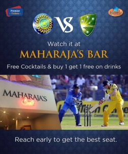 India vs Australia World Cup Semi Final at Maharaja's Bar