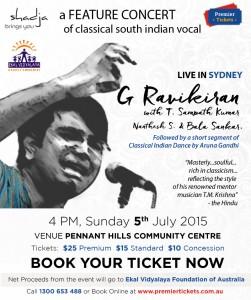 G Ravikiran's Feature Concert  – Sydney