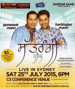 Harbhajan Mann – Satrangi Peengh– Live In Sydney