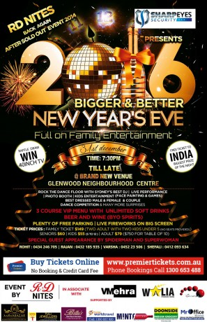 Welcoming 2016 – RD Nites New Year Party