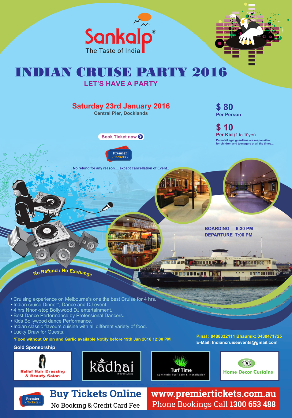 INDIAN CRUISE PARTY 2016 – Melbourne