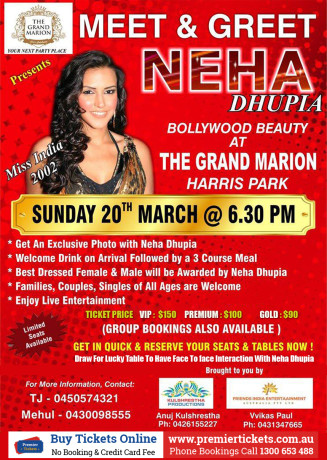 Meet & Greet with Neha Dhupia