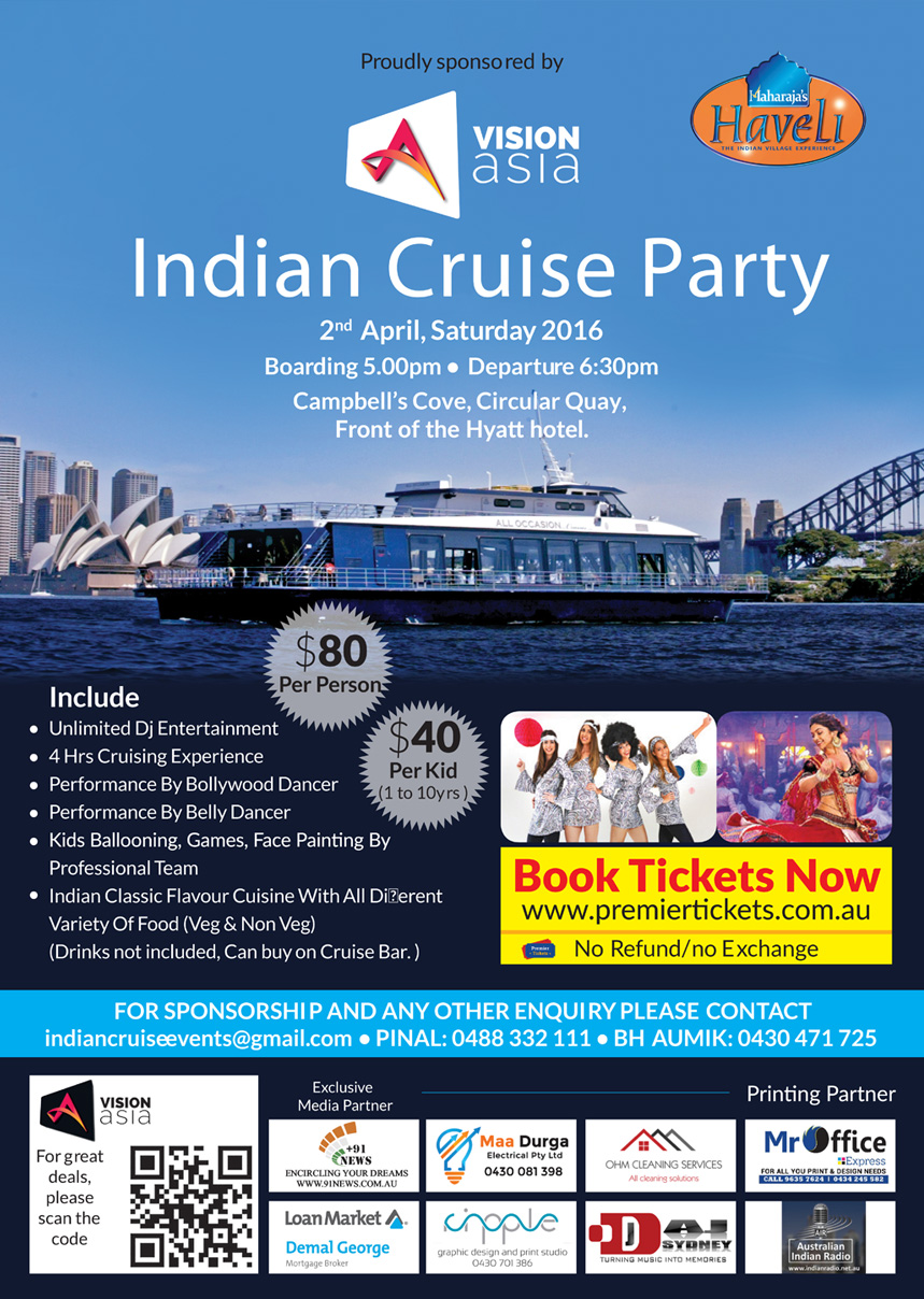 INDIAN CRUISE PARTY 2016 – Sydney
