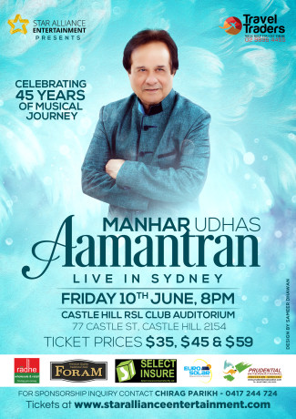 Aamantran – An Evening with Manhar Udhas in Sydney