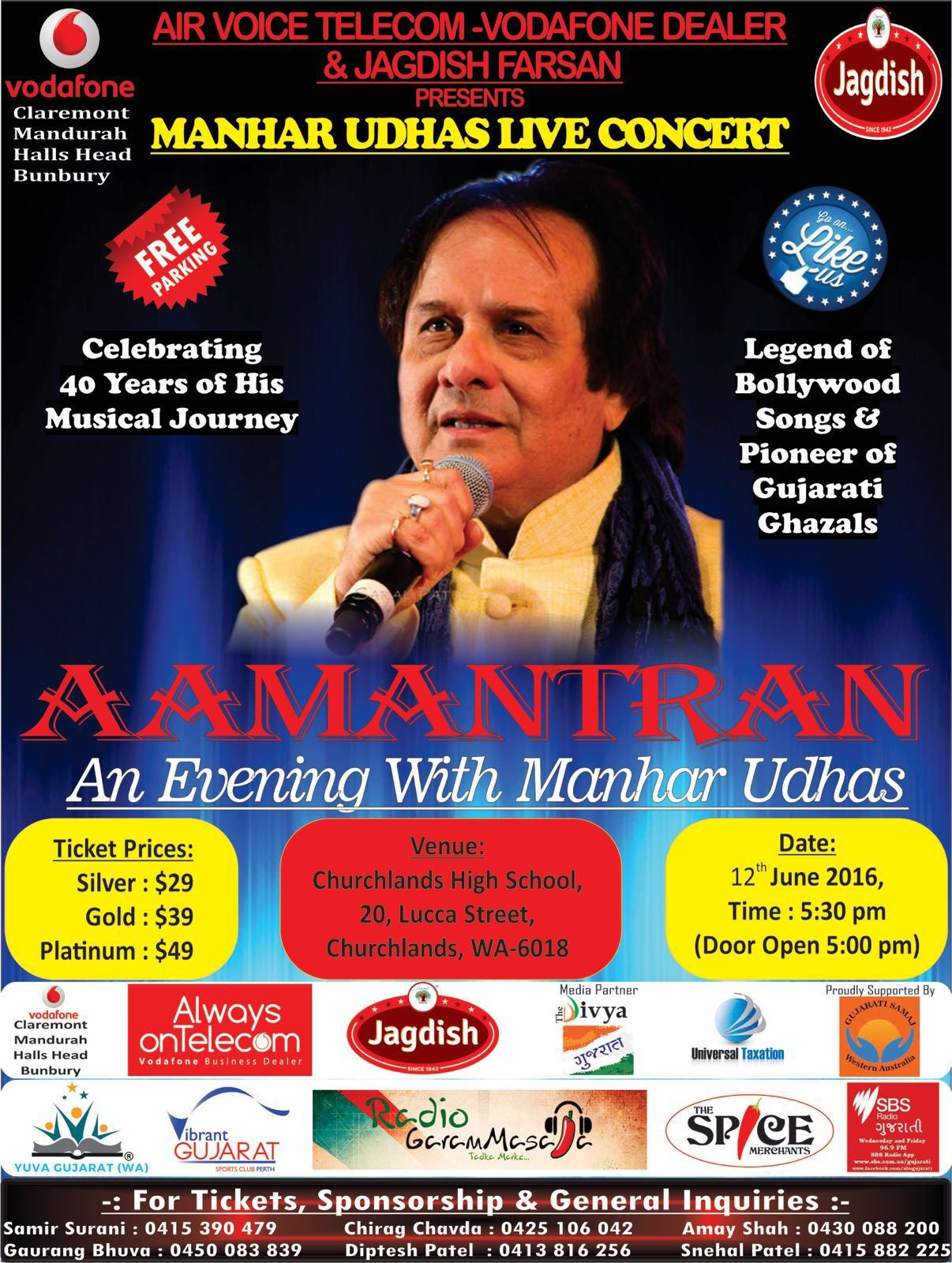 Aamantran – An Evening with Manhar Udhas in Perth