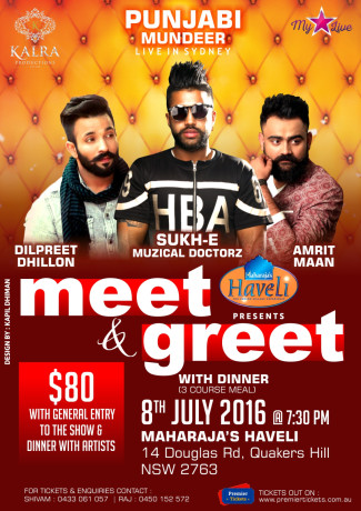 Punjabi Mundeer Meet & Greet and Live Concert in Sydney