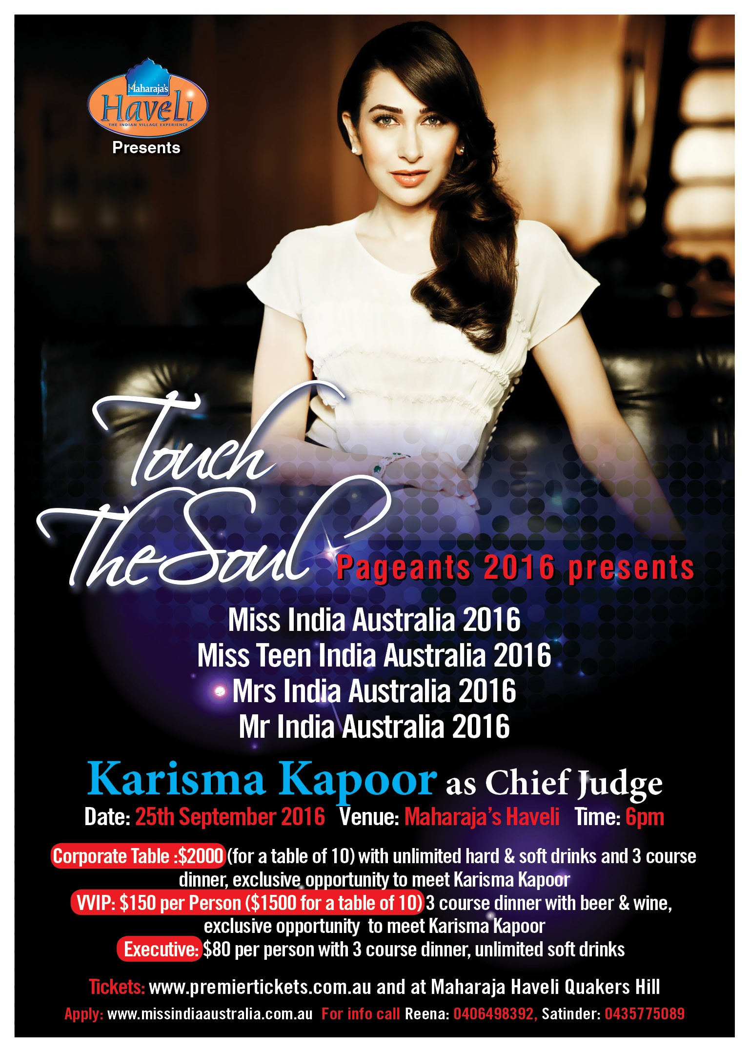 MISS/MRS/MR India Australia Beauty Pageant – TOUCH THE SOUL 2016