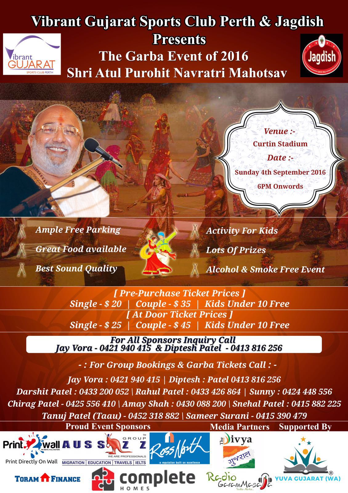 NAVRATRI 2016 – Atul Purohit in Perth
