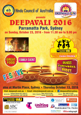 Deepavali Festival 2016 by Hindu Council of Australia