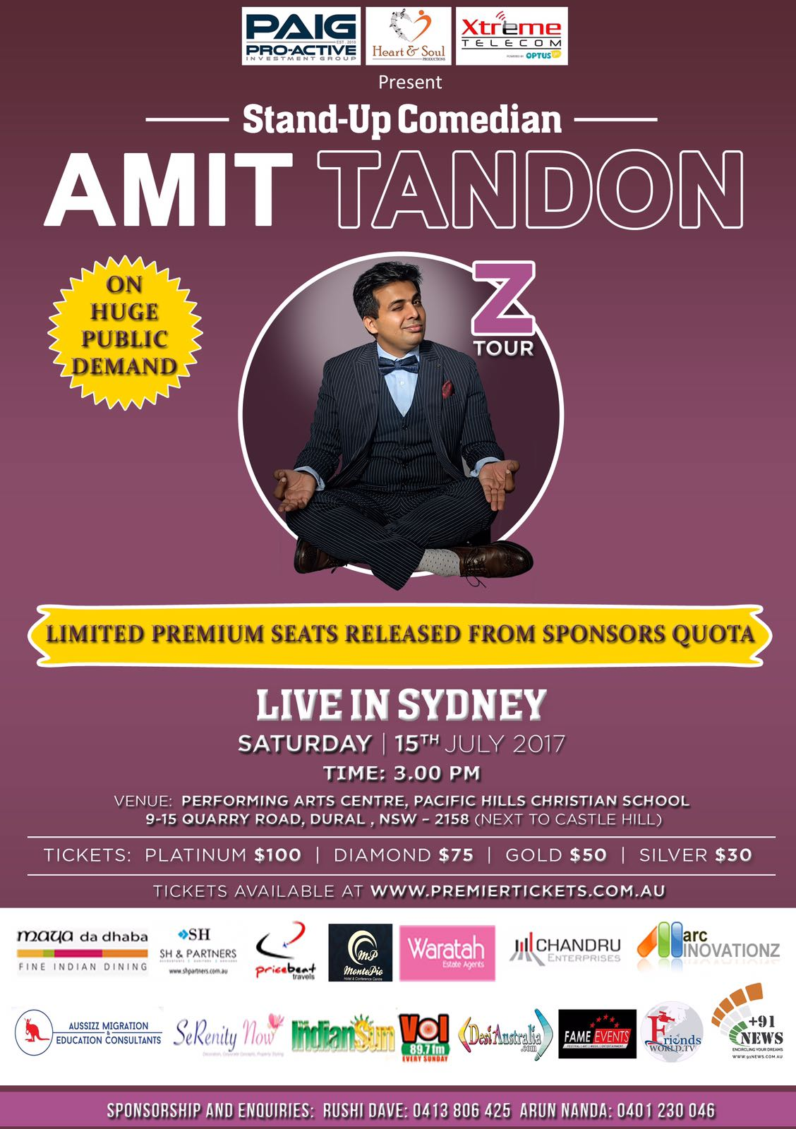 Amit Tandon The Married Guy Stand Up Comedian Live in Sydney (3:00 PM)
