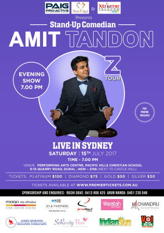 Amit Tandon The Married Guy Stand Up Comedian Live in Sydney (7:00 PM)