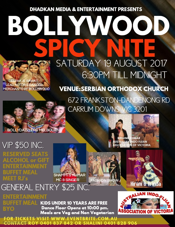 Dhadkan's Bollywood Spicy Night – Dinner & Dance in Melbourne
