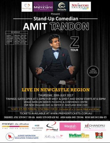 Amit Tandon The Married Guy Stand Up Comedian – Live in Newcastle Region