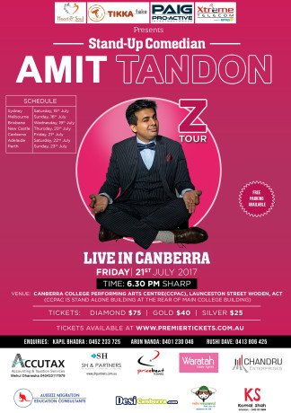 Amit Tandon The Married Guy Stand Up Comedian Live in Canberra