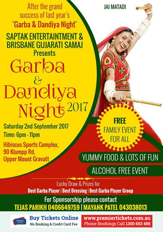 Garba & Dandiya Night 2017 in Brisbane