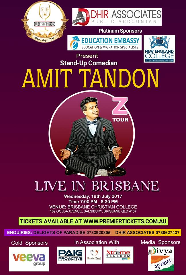 Amit Tandon Stand Up Comedian Live in Brisbane