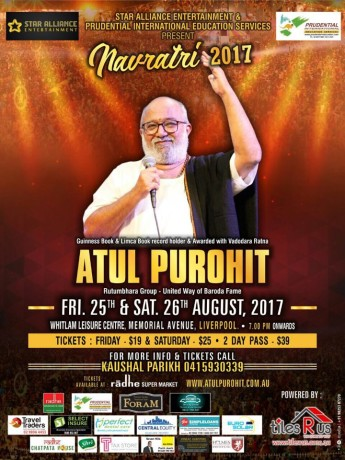 Navratri with Atul Purohit in Sydney 2017