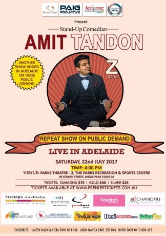 Amit Tandon The Married Guy Stand Up Comedian Live in Adelaide 4:00 PM