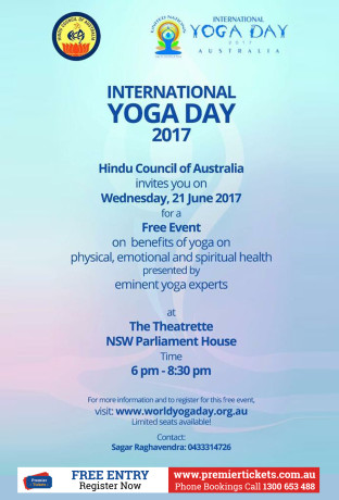 INTERNATIONAL YOGA DAY @ SYDNEY  – FREE Registration
