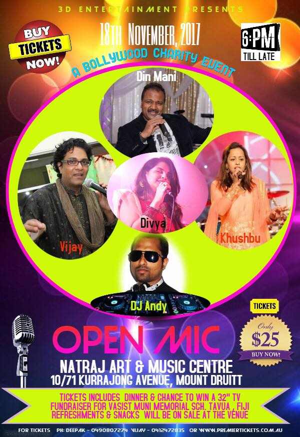 OPEN MIC – BOLLYWOOD CHARITY EVENT