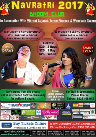 Navratri with Atul Purohit & Indu Patel in Perth