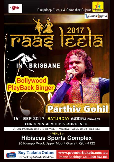 Raas Leela 2017 with Parthiv Gohil in Brisbane