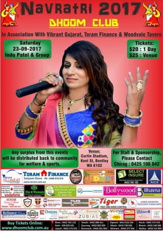 Navratri with Indu Patel in Perth