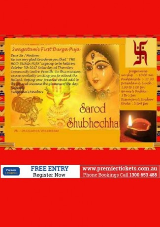 Swagatam's First Durga Puja – FREE Registration