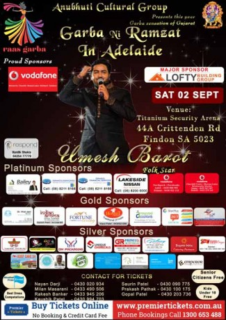 Garba Ni Ramzat In Adelaide With Umesh Barot