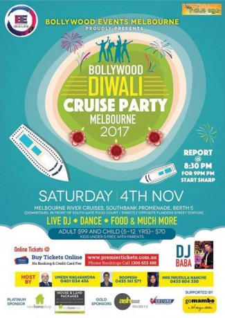 Bollywood Diwali Cruise Party 2017 – Melbourne
