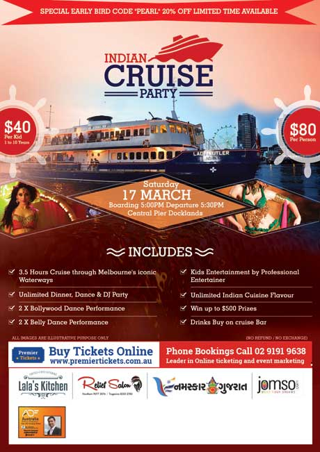 INDIAN CRUISE PARTY 2018 – Melbourne