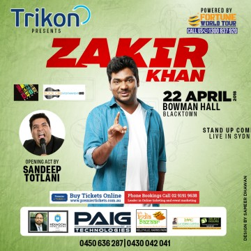 Zakir Khan Stand Up Comedian Live in Sydney