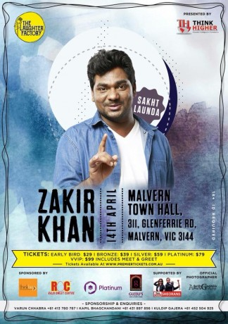 Zakir Khan Stand Up Comedian Live in Melbourne