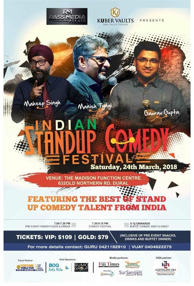 Indian Standup Comedy Festival Sydney