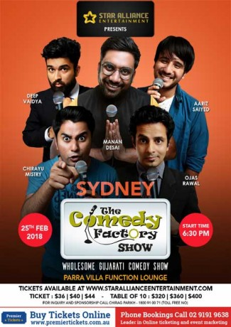 Gujarati Comedy Factory Show in Sydney