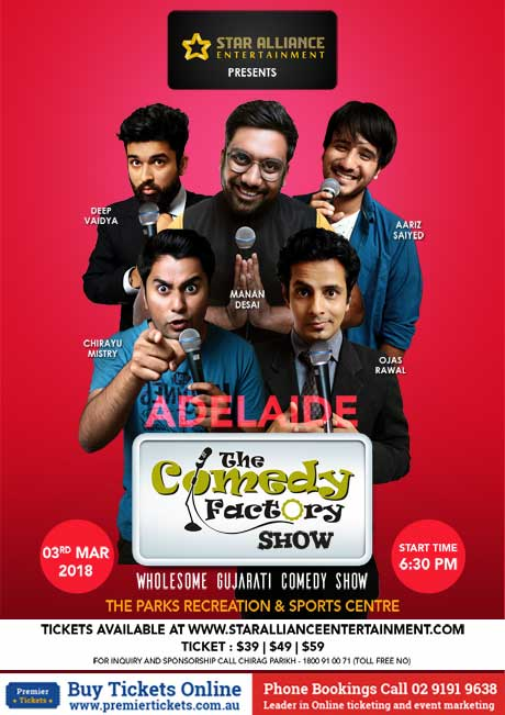 Gujarati Comedy Factory Show in Adelaide