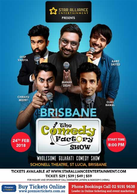 Gujarati Comedy Factory Show in Brisbane