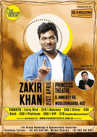 Zakir Khan Stand Up Comedian Live in Brisbane