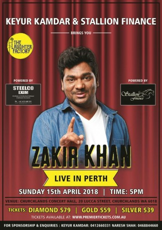 Zakir Khan Stand Up Comedian Live in Perth