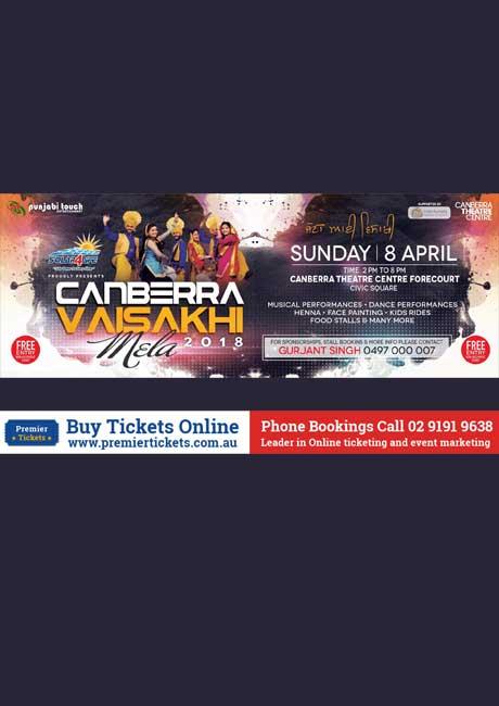 Canberra Vaisakhi Mela 2018 –  FREE Registration