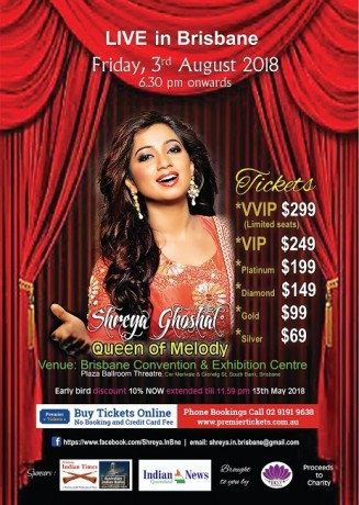 Melody Queen Shreya Ghoshal Live in Brisbane