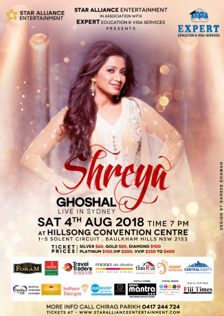 Melody Queen Shreya Ghoshal Live in Sydney