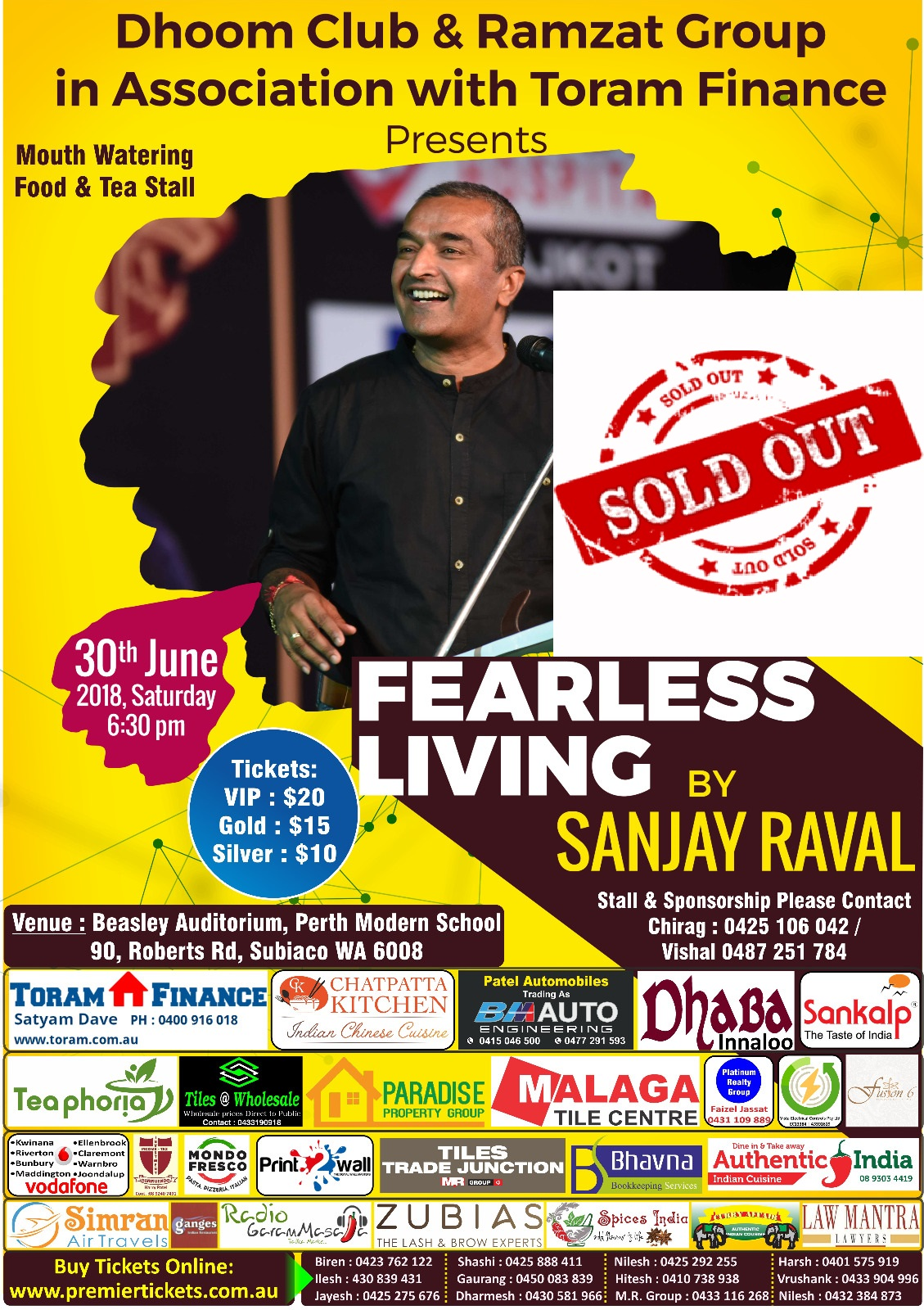 Fear Less Life by SANJAY RAVAL – Perth