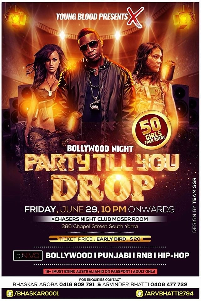 Bollywood Night Party till You Drop