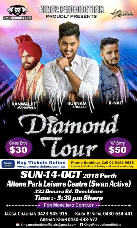 DIAMOND TOUR – LIVE IN PERTH