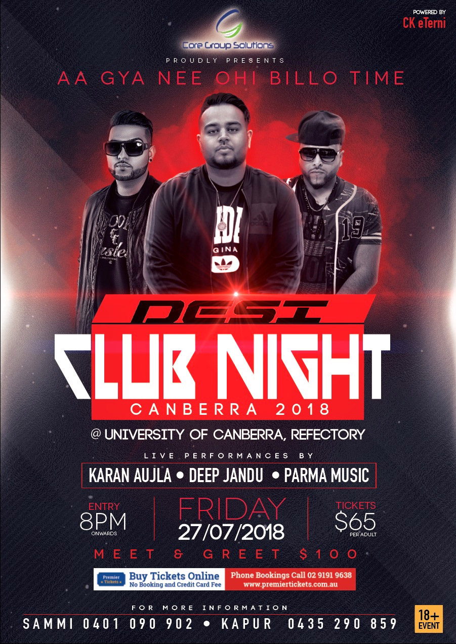 Desi Club Night Canberra 2018