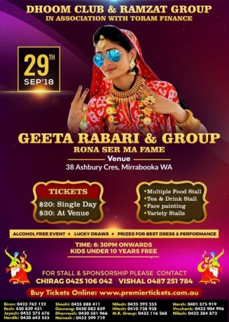 Geeta Rabari Live in Perth