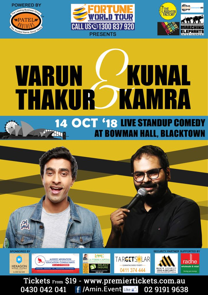 Stand Up Comedy by Varun Thakur & Kunal Kamra Live in Sydney