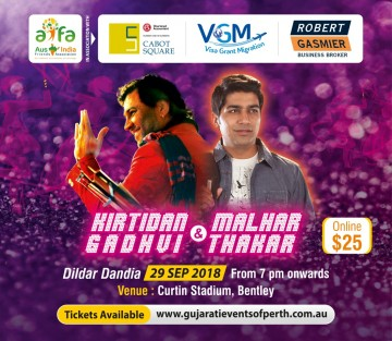 Garba with Kirtidan Gadhvi Live in Perth